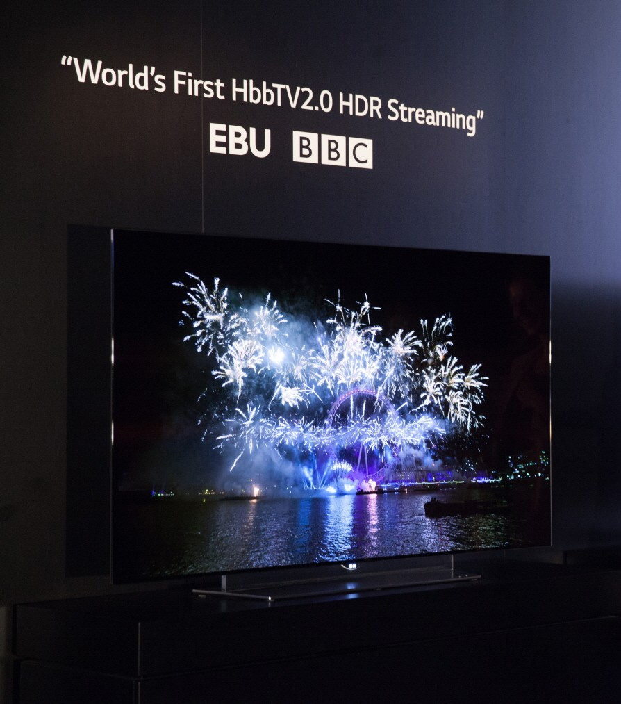 A demonstration of the World's First HbbTV2.0 HDR Streaming on LG's 4K OLED TV at IFA 2015