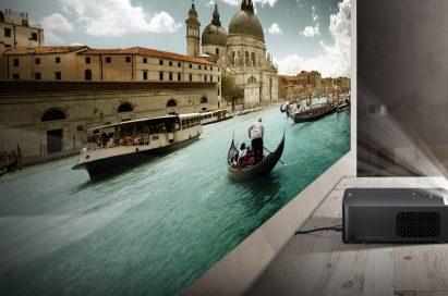 The LG Minibeam Ultra Short-Throw projector model PF1000U