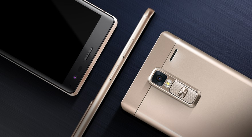 The front, side and back view of the LG Zero in Gold