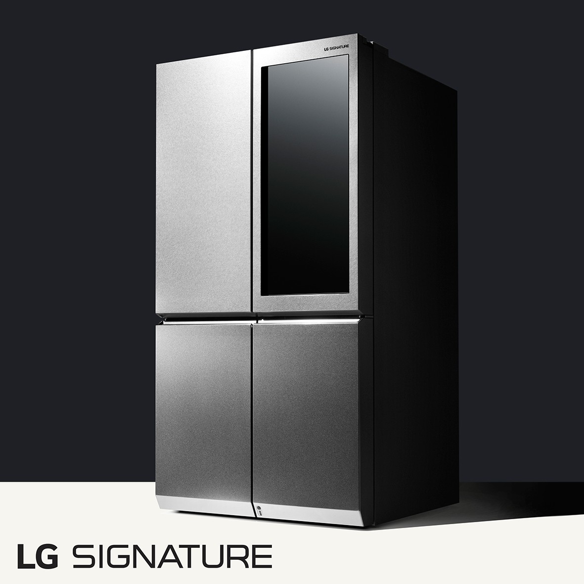 LG SIGNATURE's award-winning Door-in-Door™ design with added Knock-On Door-in-Door feature refrigerator.