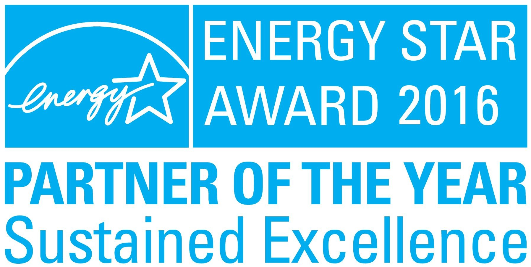 Logo of the U.S. Environmental Protection Agency's (EPA) 2016 ENERGY STAR Partner of the Year–Sustained Excellence Award, which was awarded to LG.