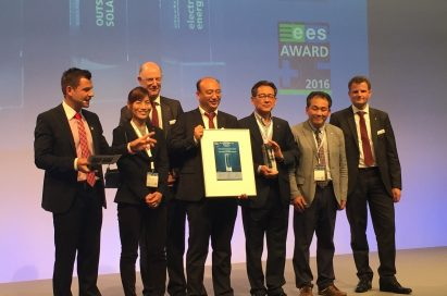 LG receives its third consecutive Intersolar Award for its new innovative NeON™ 2 BiFacial solar module at Intersolar Europe 2016, Munich, Germany.