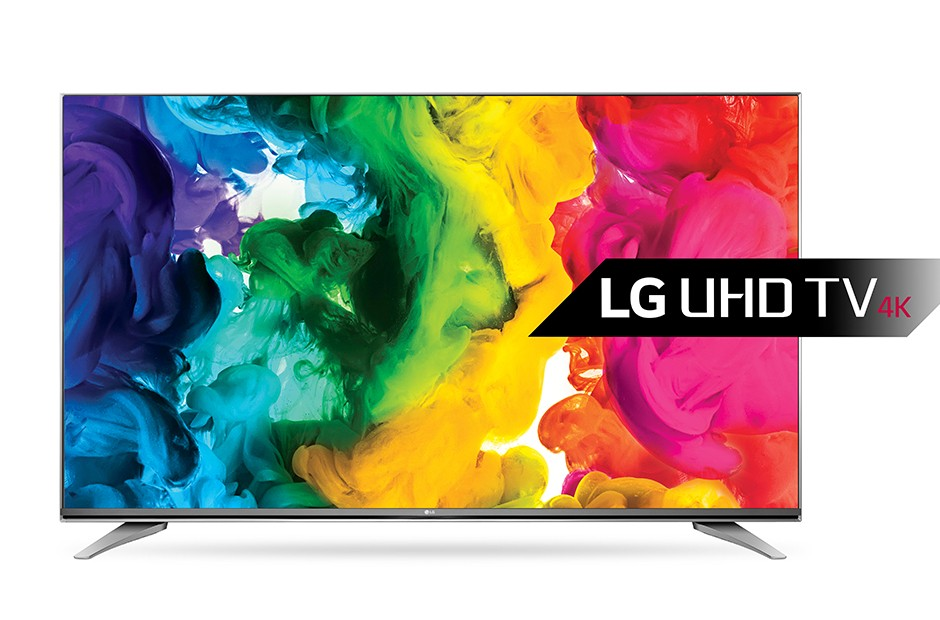 A front view of LG RGBW 4K UHD TV