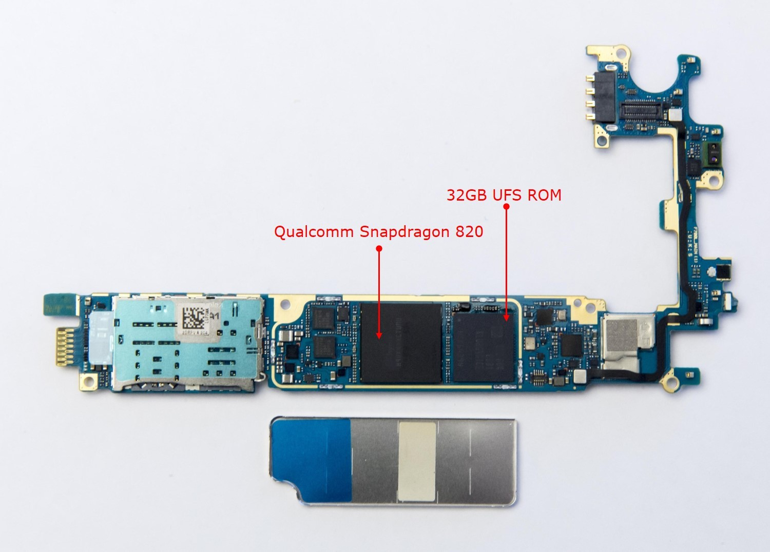 The Qualcomm Snapdragon 820 and 32GB Universal Flash Storage (UFS) ROM