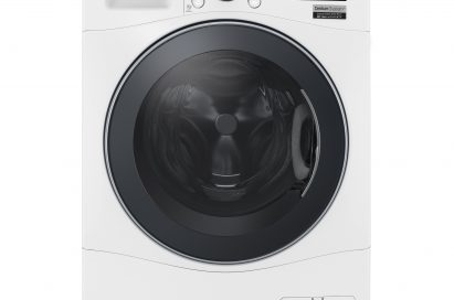 LG Centum System™ front-load washing machine in white color