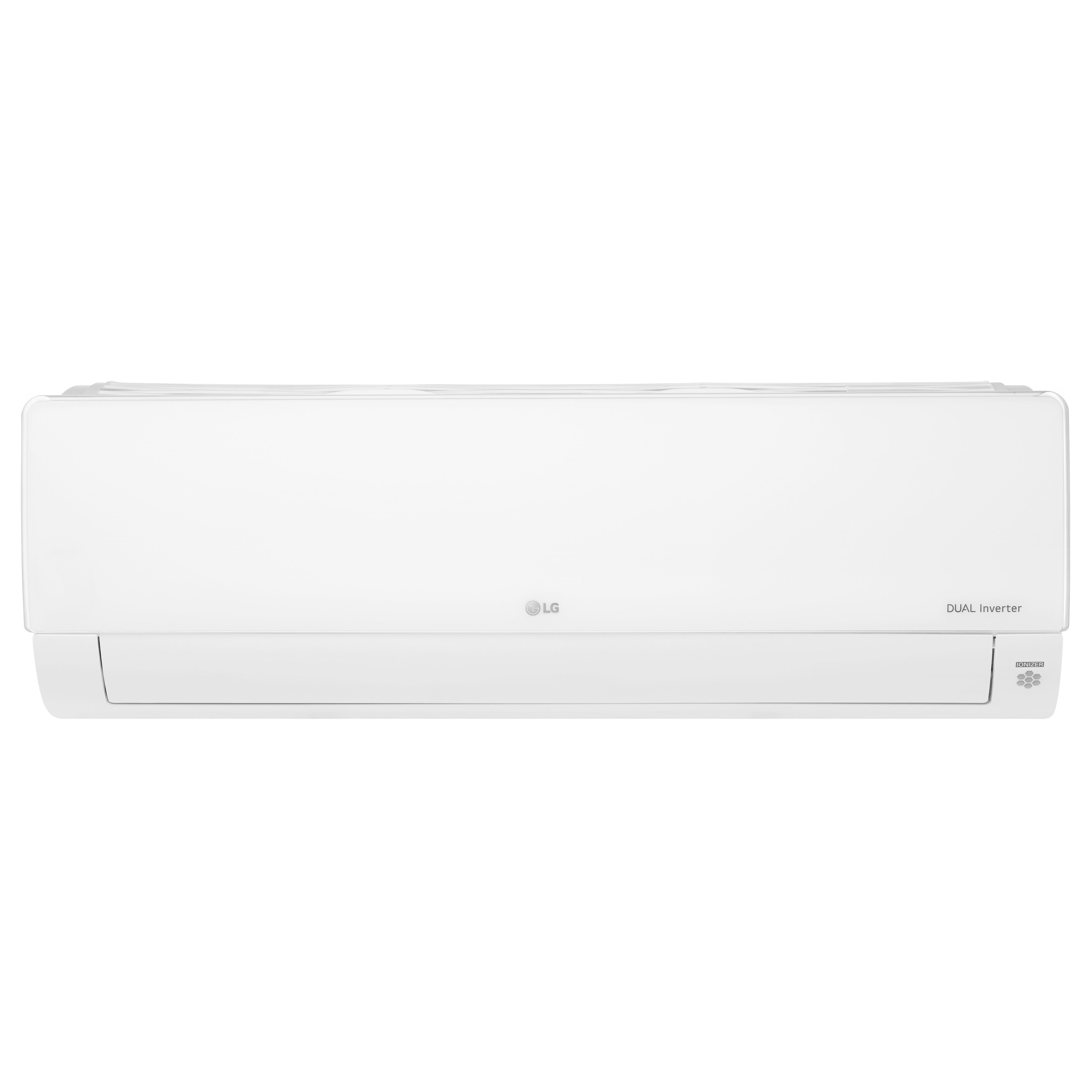 Front view of LG DUALCOOL air conditioner