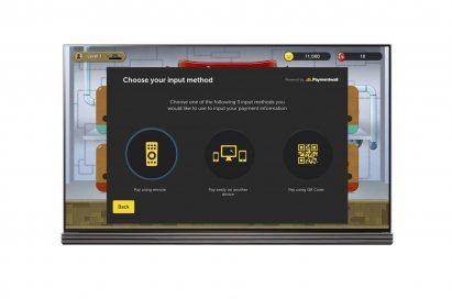 A screenshot of the input method option page on the LG Smart TV platform