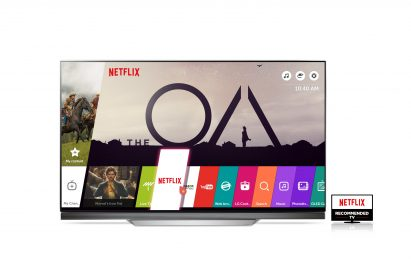 A Netflix Recommended LG TV launching the Netflix app