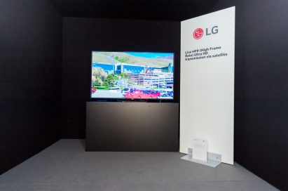 LG OLED TV's cutting-edge 4K High Frame Rate (HFR) showcased at the tenth SES Industry Days conference in Luxembourg, in collaboration with SES.