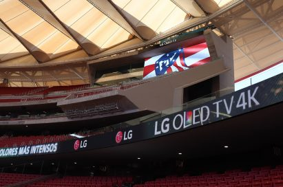 A closer look at LG's signage at Atletico de Madrid's stadium