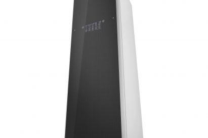 A picture of LG Styler taken from the bottom looking up