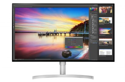 Front view of LG's 32-inch UHD 4K monitor model 32UK950