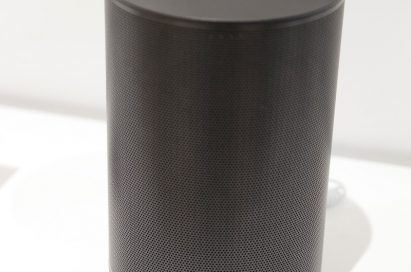 Front view of the LG ThinQ WK7 Wireless Smart Speaker with built-in Google Assistant