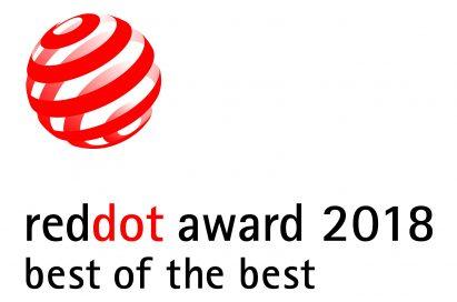 Logo of reddot award 2018 best of the best.