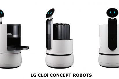 Image of LG CLOi concept robots.