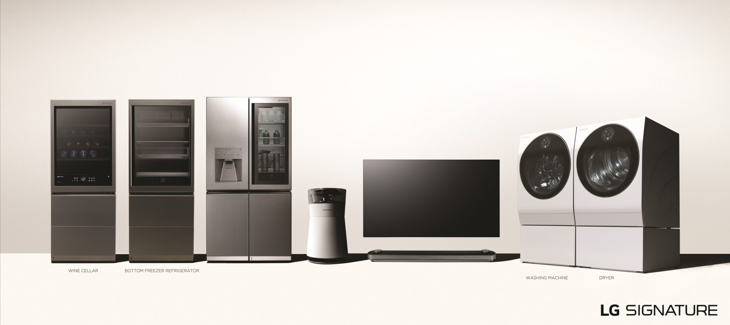 A front image of the LG SIGNATURE ultra-premium product lineup.