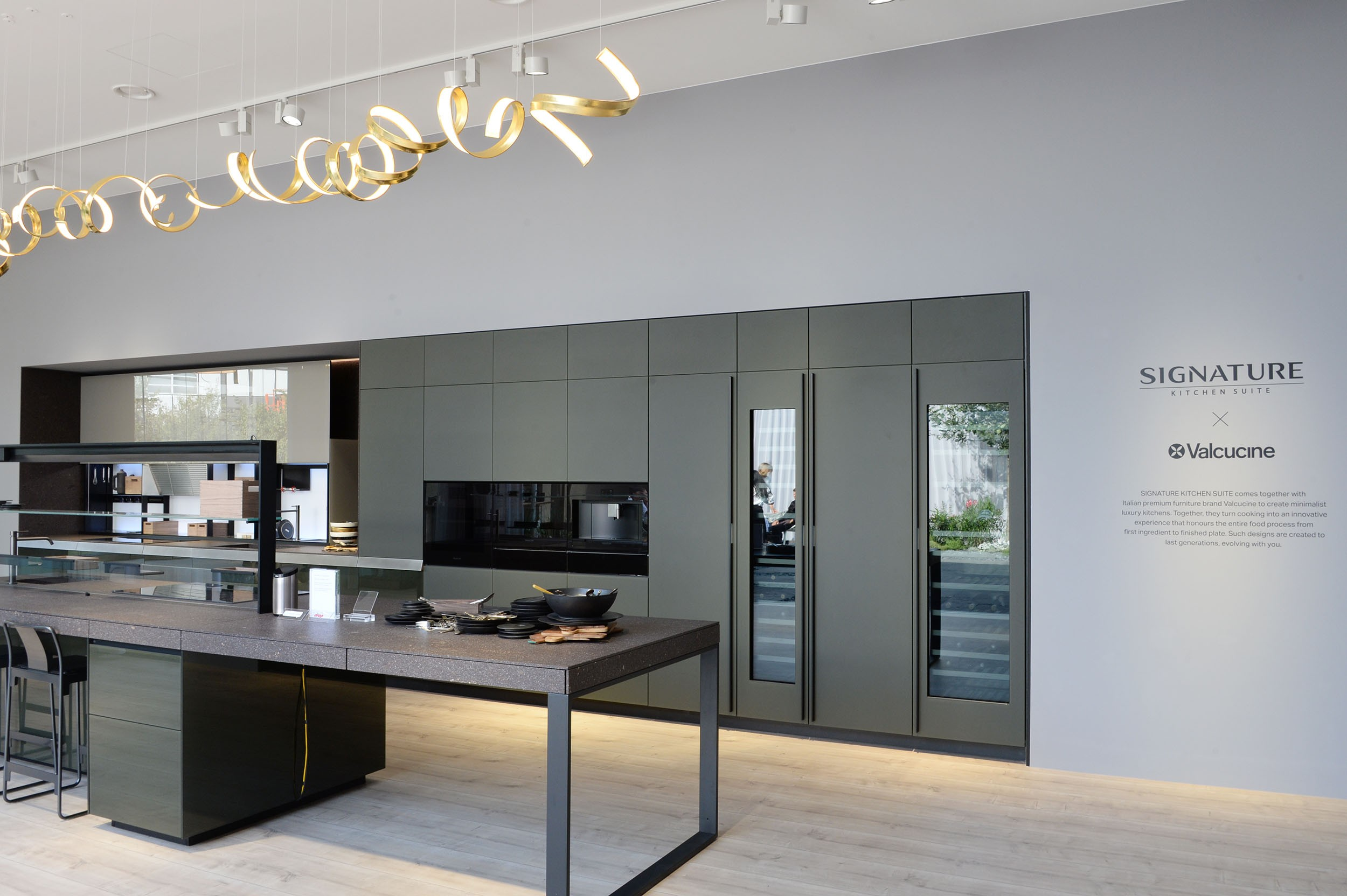Portion of SIGNATURE KITCHEN SUITE's exhibition hall cooperated with Valcucine at IFA 2018