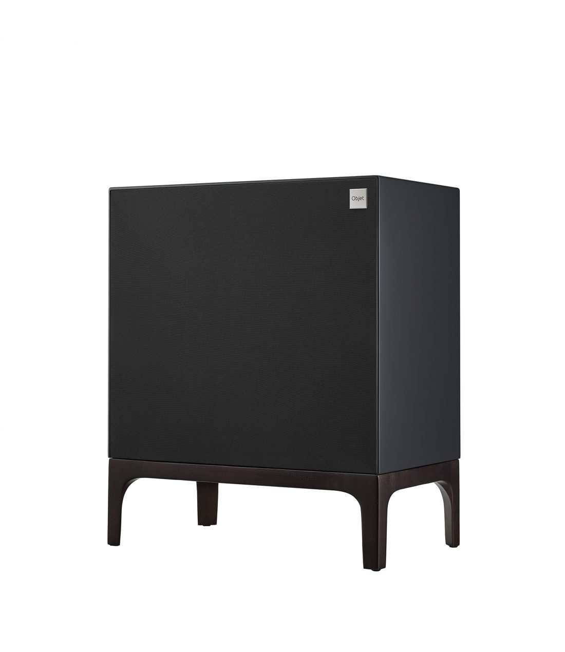 Another side view of LG OBJET Speaker System positioned at a 15-degree angle