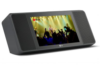 A left-side view of LG XBOOM AI ThinQ WK9