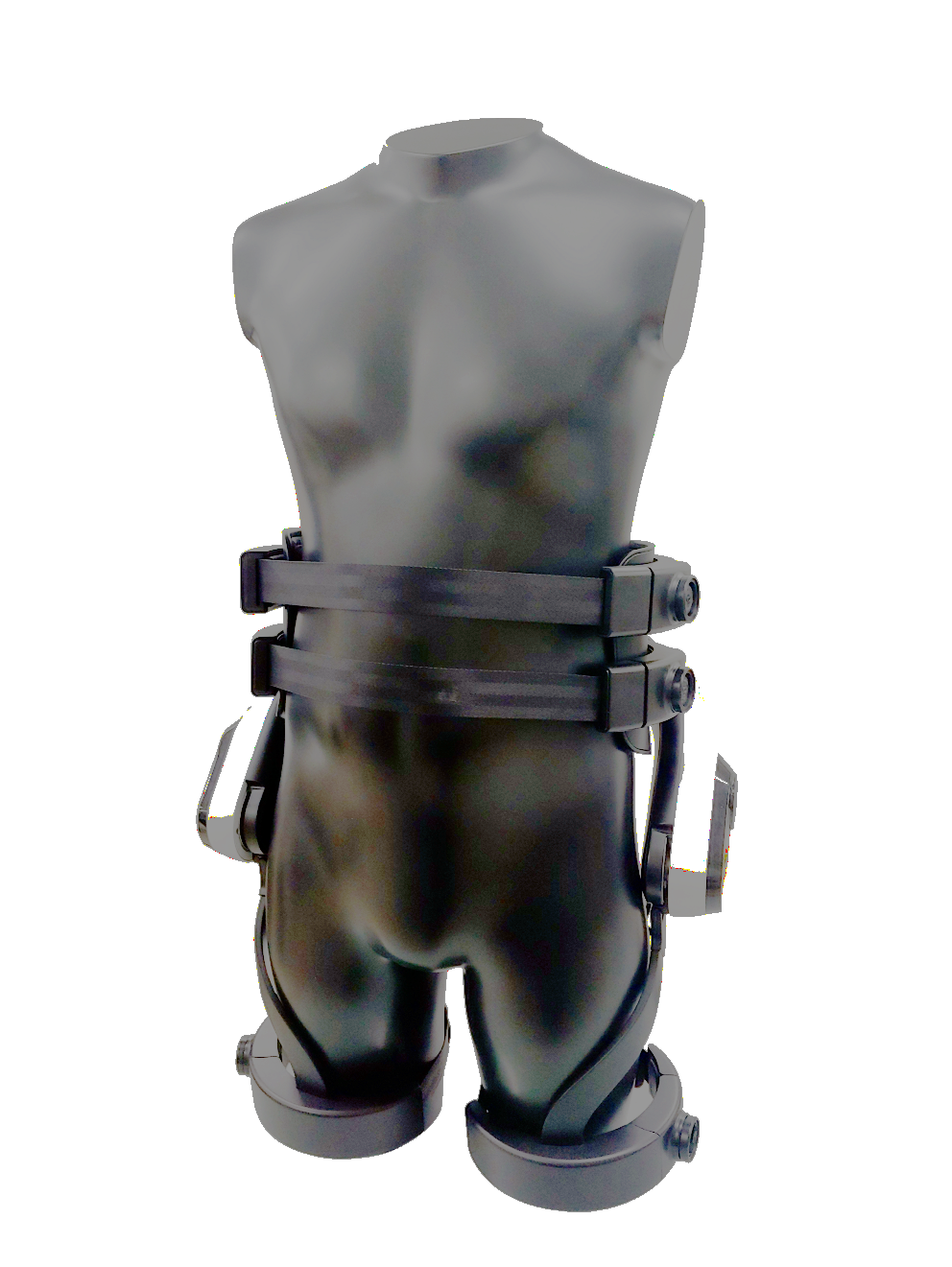 Front view of LG CLOi SuitBot on mannequin