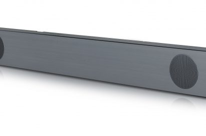 A right-side view of LG Soundbar model SL9YG