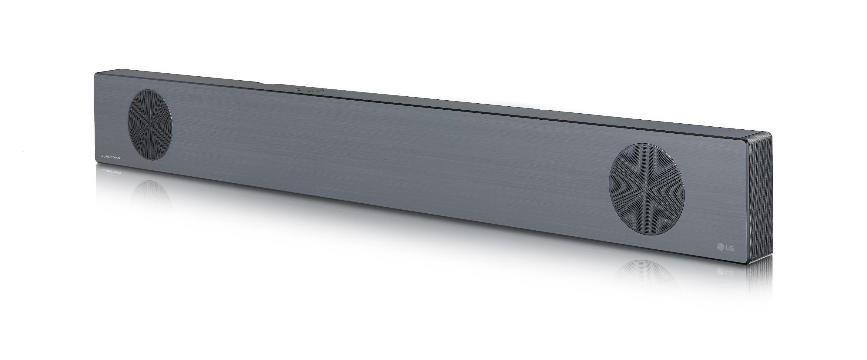 A right-side view of LG Soundbar model SL9YG