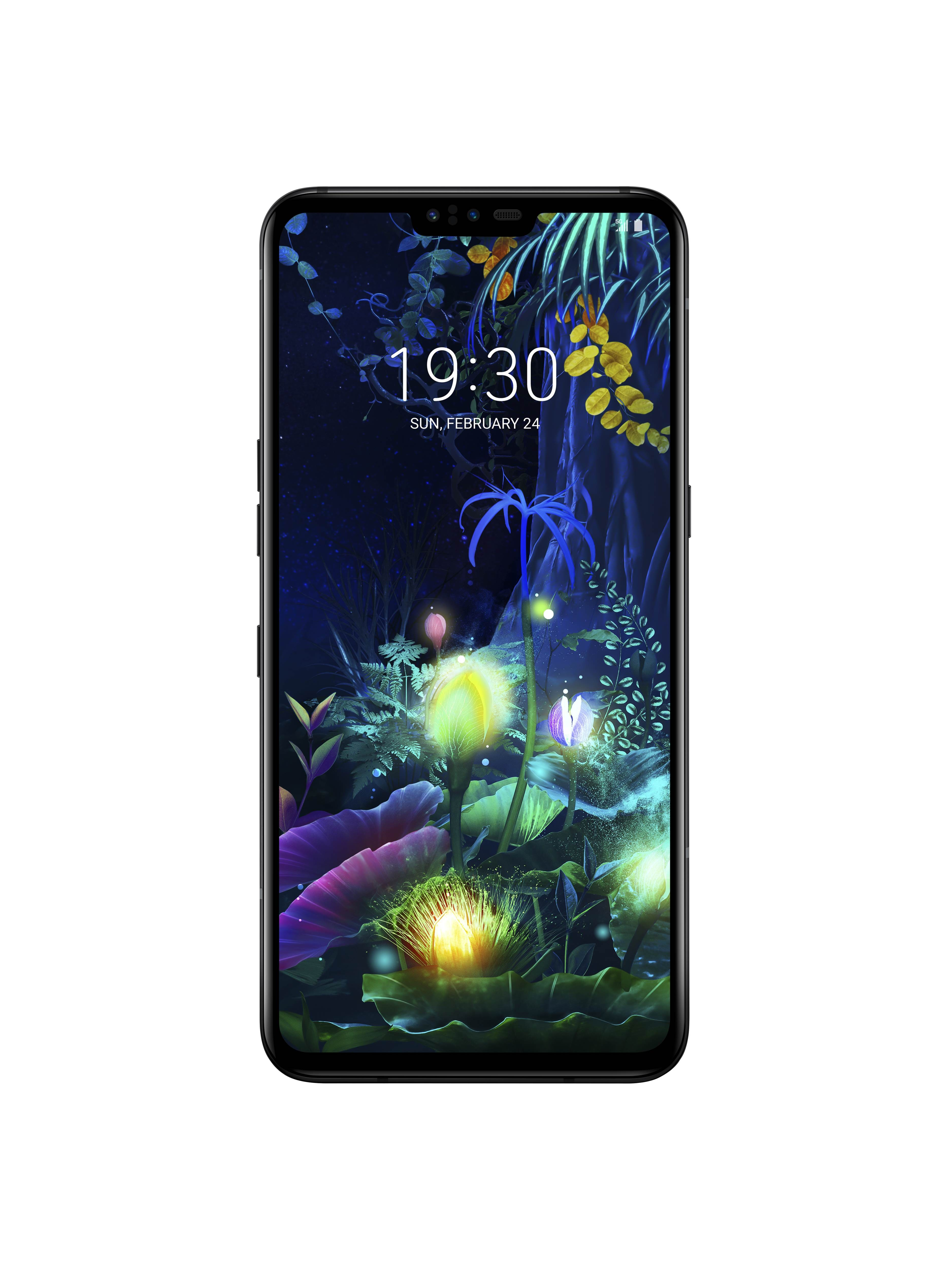 The front view of the LG V50 ThinQ 5G
