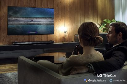 Viewers enjoy the LG OLED TV W9.
