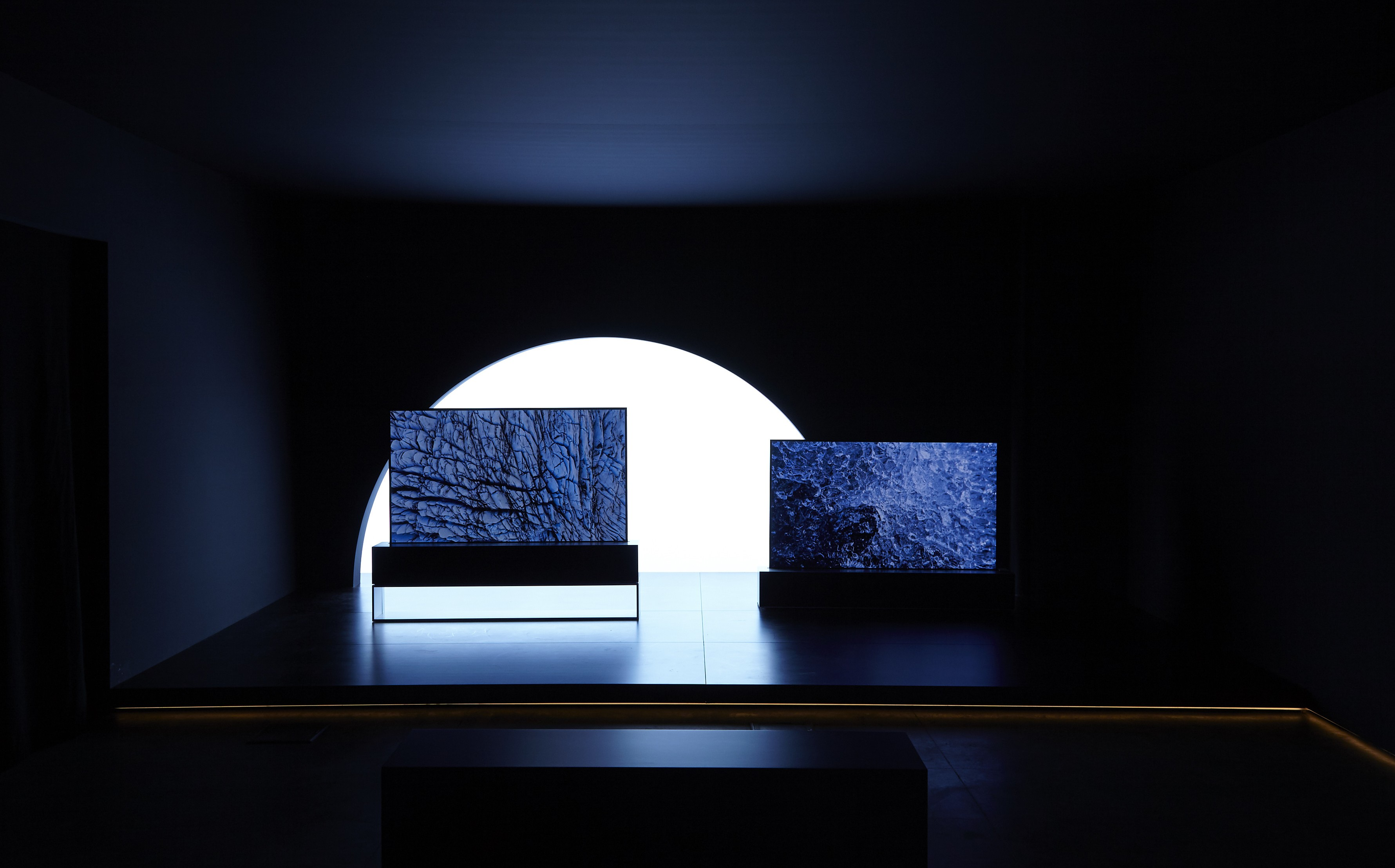LG SIGNATURE OLED TV R model 65R9 showing natural color expression for the Redefining Space installation at Milan Design Week.