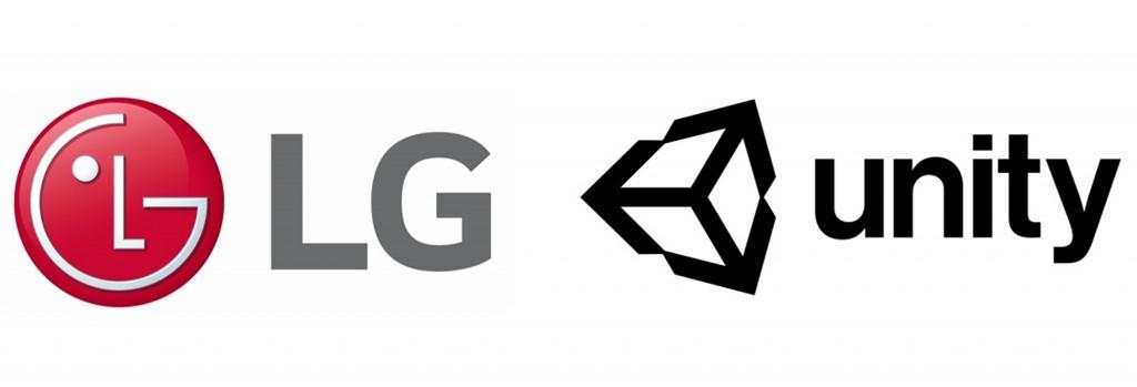 Logo of LG Electronics and Unity Technologies
