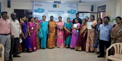 A group photo of participating teachers at the LG Eco Agents of Change campaign