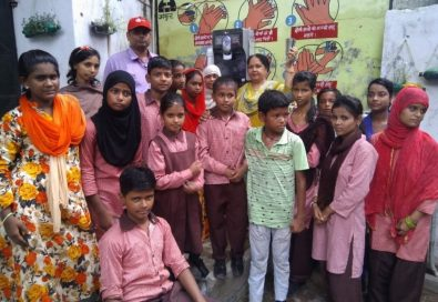 A group photo of students from a local school who received LG's water purifiers as part of the LG Eco Agents of Change campaign