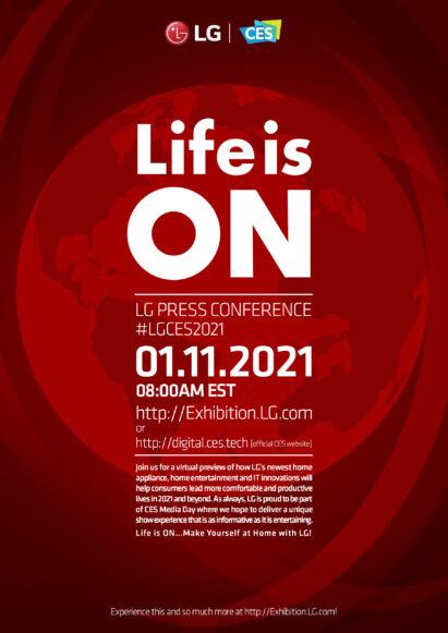 CES 2021 LG Press Conference Invitation