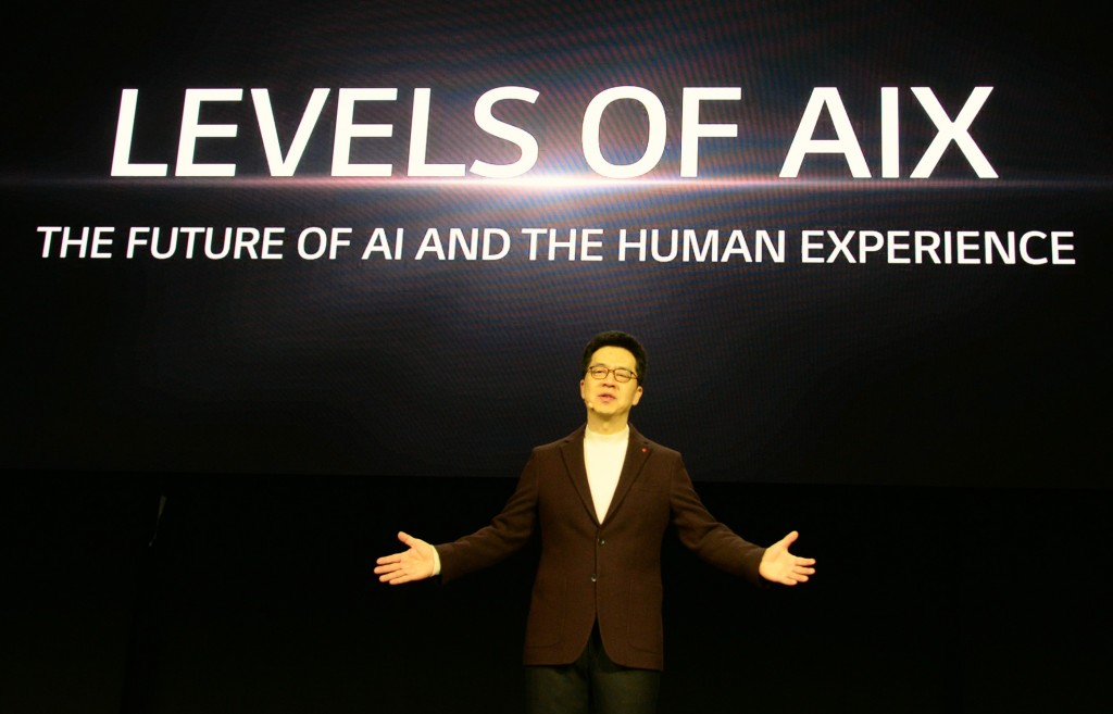 "Dr. I.P. Park talks about the future of artificial intelligence (AI) development at CES 2020 under the topic, ""Levels of AI Experience: the future of AI and the Human Experience"""