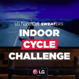 The poster of LG NanoCell and SWEATers' Indoor Cycle Challenge