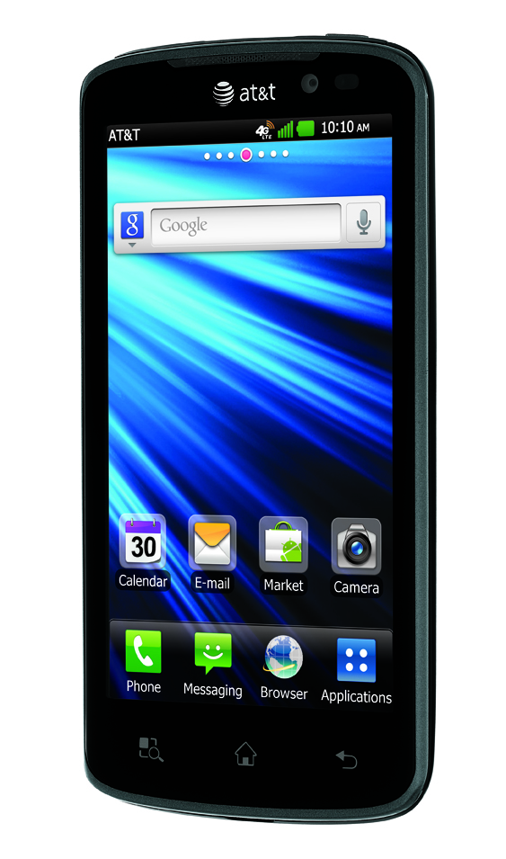 15-dgree front view of LG Nitro HD