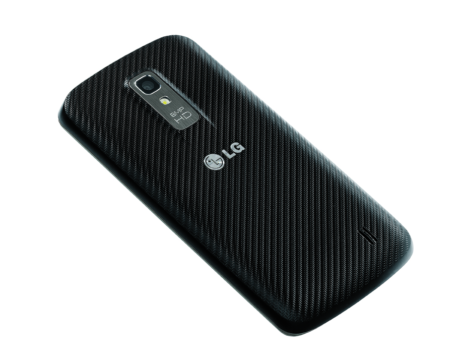 Rear view of LG Nitro HD