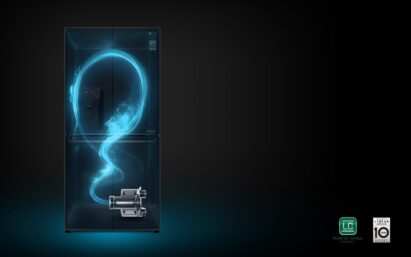 A concept image showing the technology working inside one of LG's refrigerators