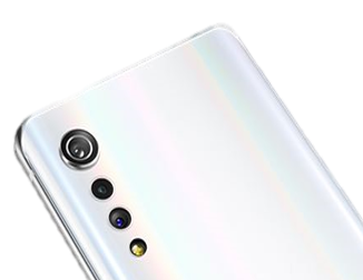 The back of LG VELVET with its three aesthetically pleasing high-quality cameras