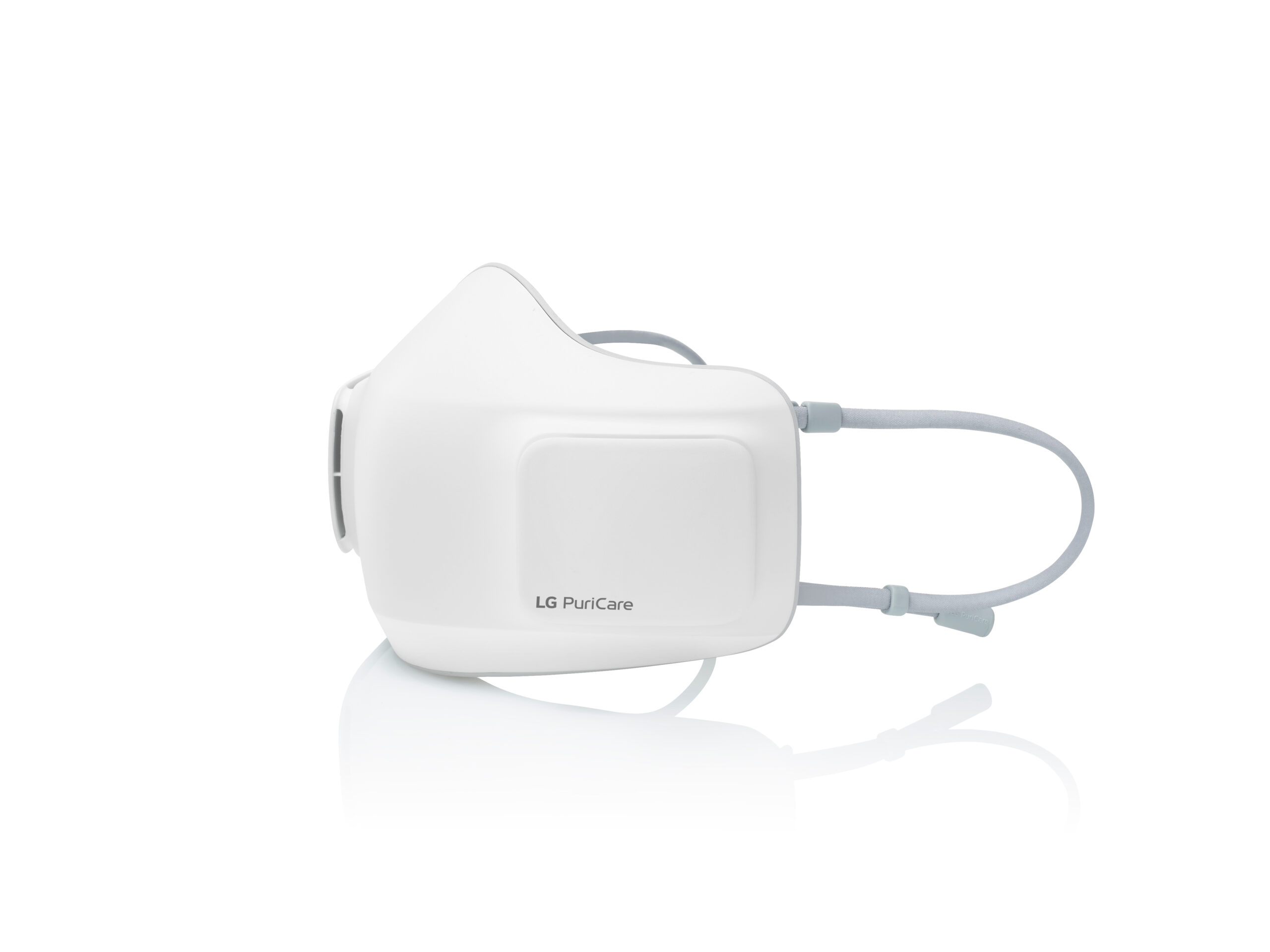 Right side view of LG PuriCare Wearable Air Purifie