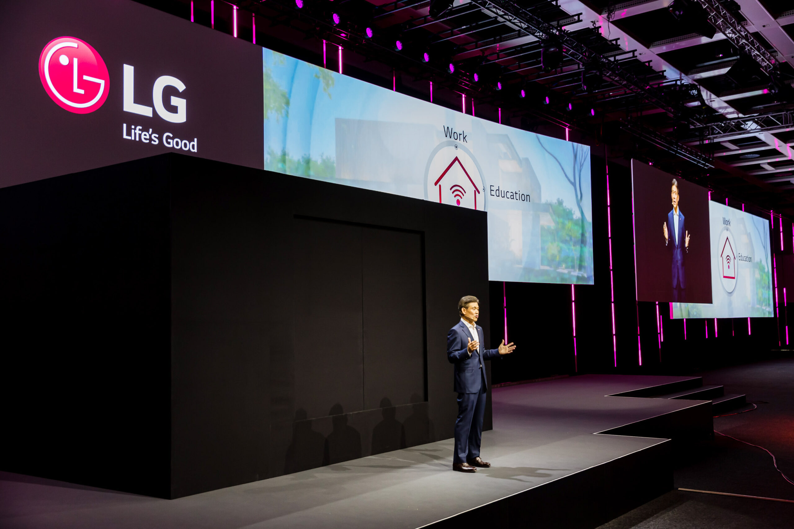 Introduction of LG Electronics' Life's Good from Home vision for the future during IFA 2020