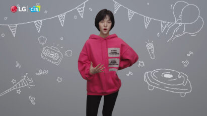 Reah Keem, a virtual composer and DJ, was recreated in super-realistic detail thanks to deep learning technology so that she could introduce the new LG CLOi robot during its CES 2021 online exhibition.