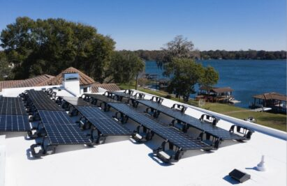 High-efficiency solar modules developed by LG Business Solution installed on the TNAR showhome rooftop.