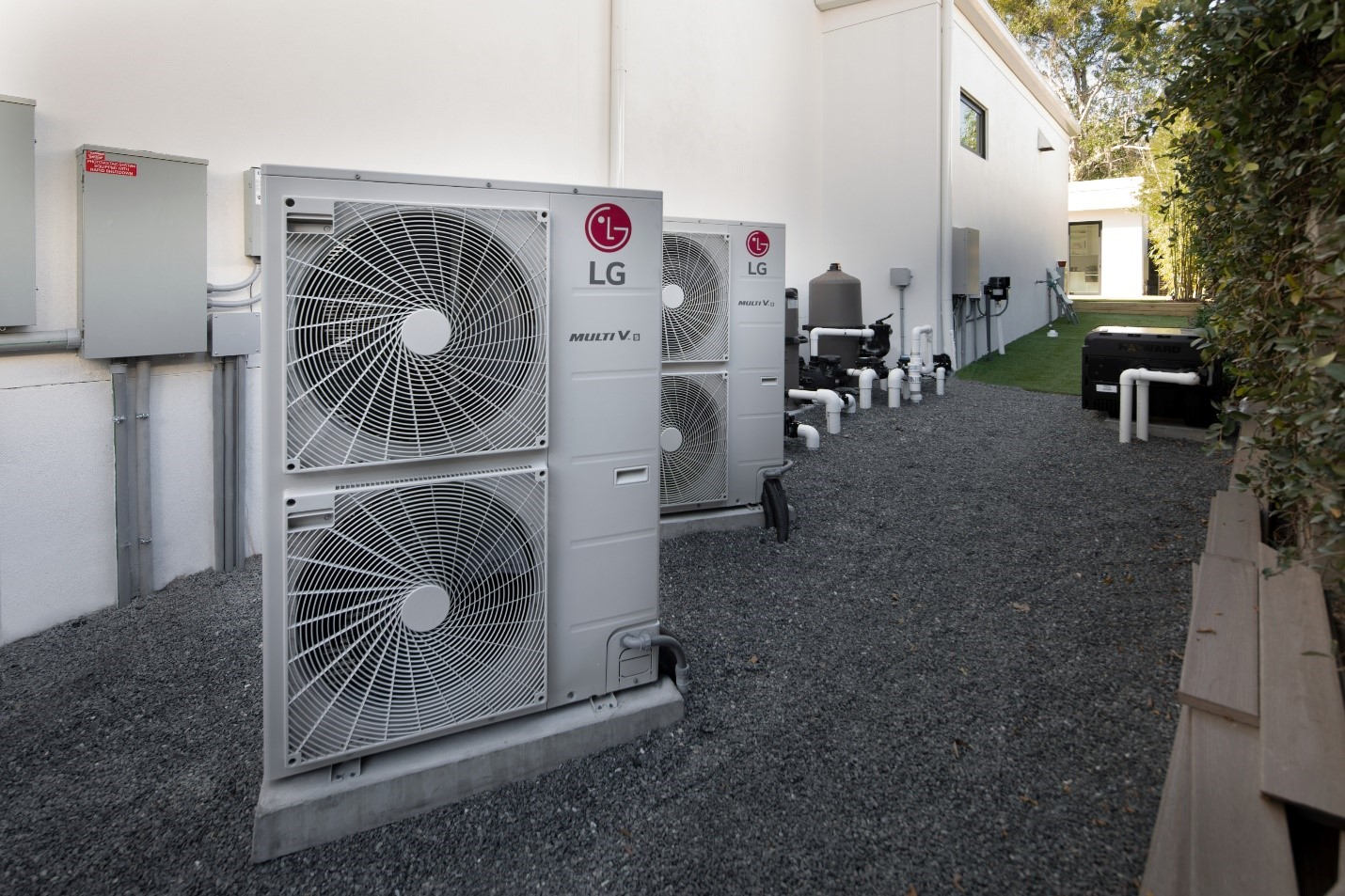 LG's HVAC system which provides energy-efficient air conditioning being used to support the TNAR showroom's Net Zero status.