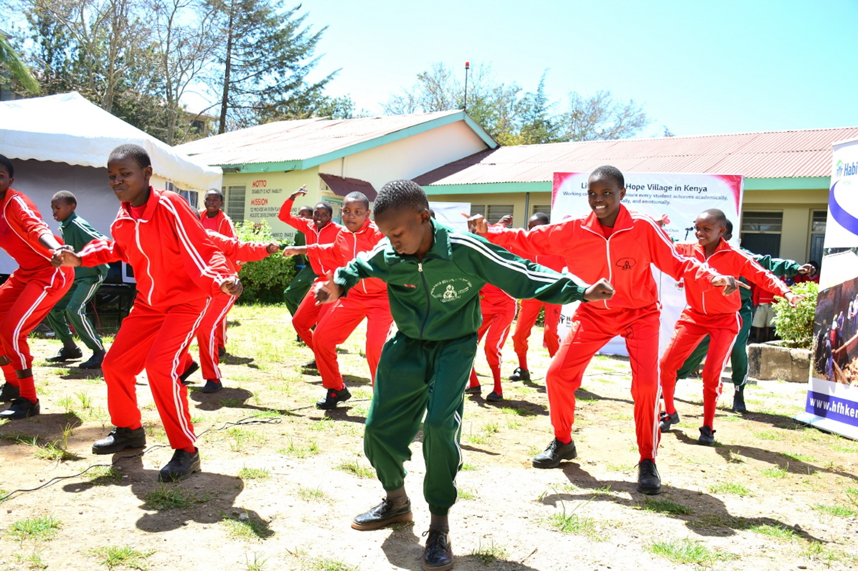 Students of Machakos School for the Deaf expressing their gratitude to benefactors for providing them with a better educational environment through dance.
